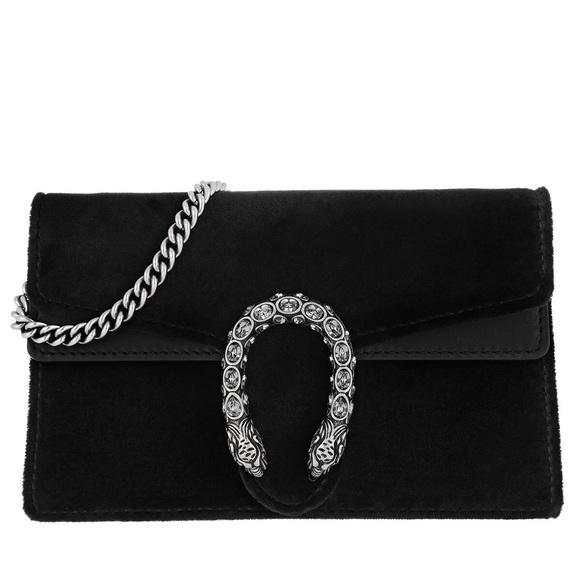 1fda590e8 Gucci Dionysus Velvet Mini Bag Black